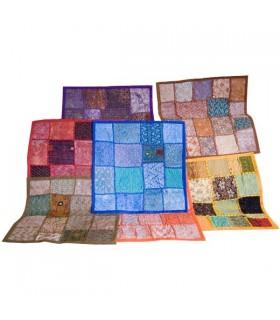 Coussin 40 cm Patchwork - coton - différentes couleurs