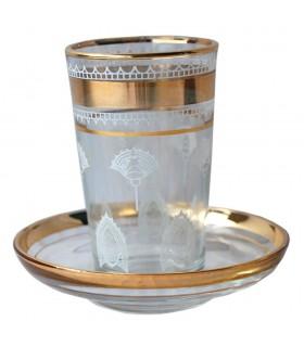 Plateau de verre pour le thé - 10 cm.