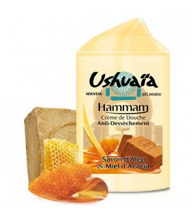 Shower cream - USHUAIA - steam - bath with SOAP of Aleppo and Acacia honey - neutral PH - 250 ml