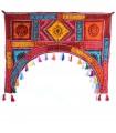 Esteira de decoração arco - artesão - 100 x 75 cm-várias cores