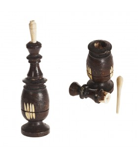 Wood Container and Wood Black (Kujul-Kajal) - 2 Sizes