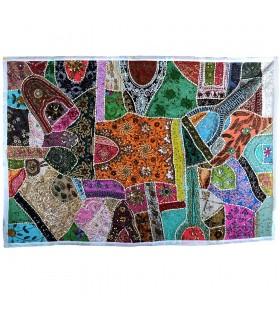Tapete Pathwork Deluxe -150 x 100 cm - Artesanal - Varios Colores