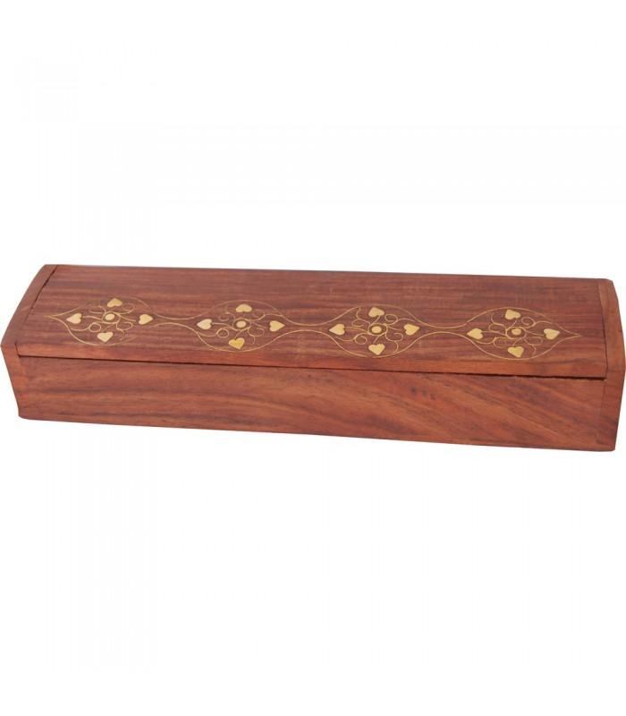 Red Wood Pencilbox - Incense Box