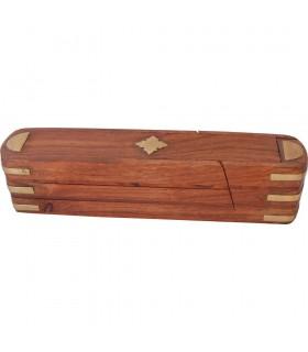 Rotary Incensario-Lapicero - 3 Fächer - rot Holz