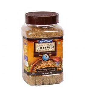 Daawat - de arroz Basmati Brown 15 Min de cozimento - delicioso e saudável - 1Kg