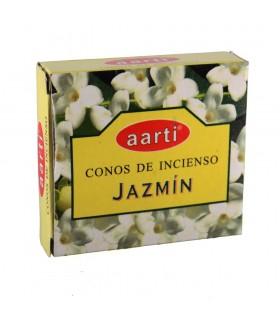 Cônes d'encens - Aarti - Jasmine - 12 cônes