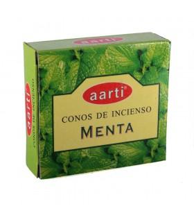 Coni di incenso - Aarti - menta - 12 coni