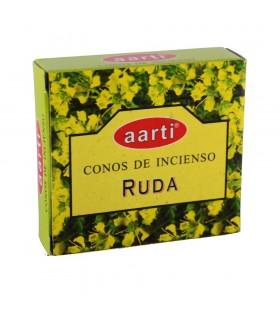 Cones de incenso - Aarti - Ruda - 12 cones