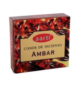 Cones de incenso - Aarti - âmbar - 12 cones