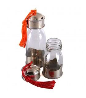 Jar Crystal - enduit avec le fil Alpaca - huiles spéciales