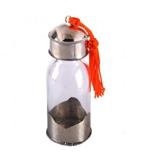 Vaso di cristallo - rivestito con Alpaca - oli speciali