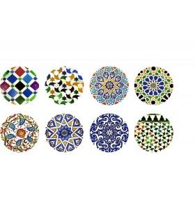 Espejito Formato Bolso - Diseño Andalusí - Varios Modelos - 5'5 cm