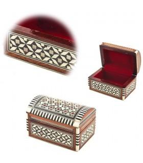 Box Baulcilto weiß - Schale - Velvet - Intarsien von Ägypten