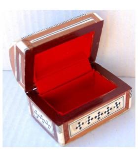 Boîte Baulcilto blanc - marqueterie de coquille - velours - de l'Égypte