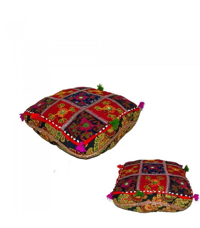 Cojín Yoga - Cuadrado- Decorado Indio - Incluye Relleno -40 cm
