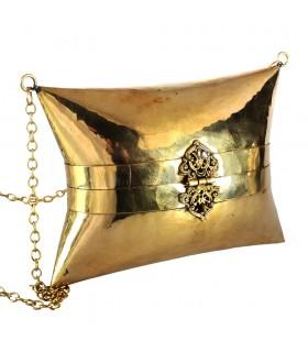 Saco de bronze - feito à mão - corrente e fechar