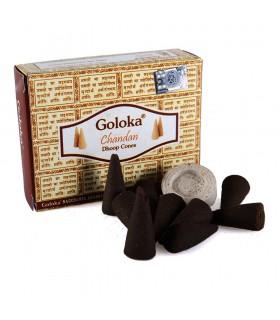 Cones incenso Goloka - cavadas - 12 unidades - inclui Base