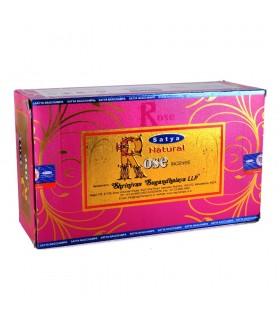 Incenso - canne da Rosa - novità Satya Natural - nuova gamma di odori - - scatola 12
