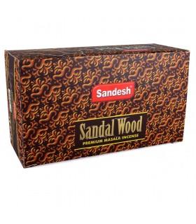 Bois de santal - Sandesh - encens Masala Premium - boîte de 12 bâtonnets d'encens
