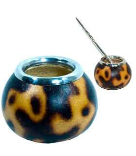 Yerba Mate gourd - Mouth stainless - steel 9 x 6 cm