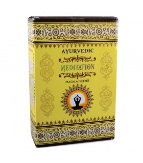 Masala - meditação - hastes de 15 caixa de incenso Ayurvédica