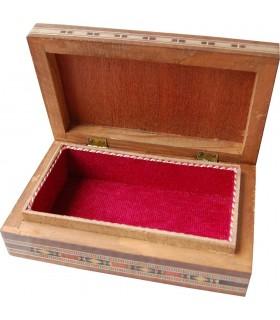 Caja Rectángular - Taracea de Siria - Terciopelo