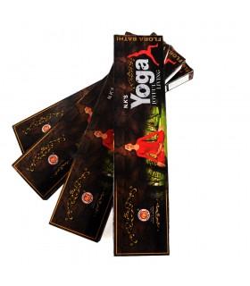 Hastes de caixa de incenso de ioga - vida alegre - 22 g