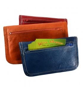 Enregistré et Quilted Leather Portfolio - 2 tailles - Plusieurs