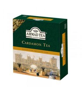 Цейлонский чай кардамон - пакетиков - Лондон чай Ахмад - 100 пакетиков - 200гр