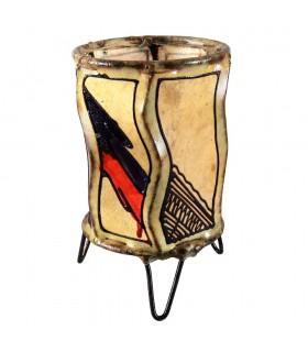 Porta velas de pele cilindro - pintado com Henna - vários modelos