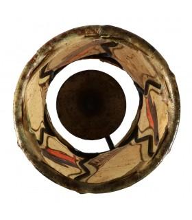 Porta Velas Piel Cilindro - Pintado con Henna - Varios Modelos