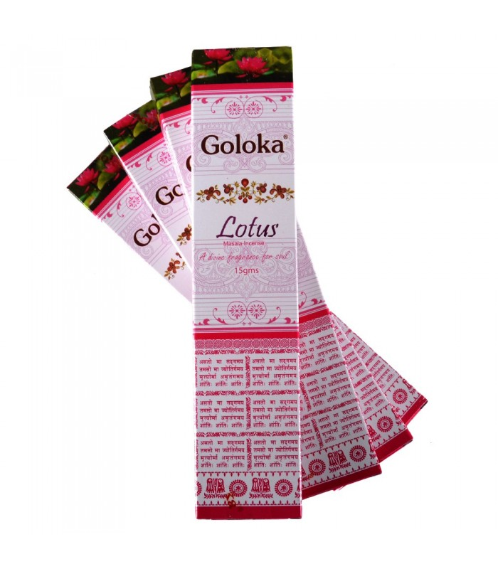 Incienso Goloka Flor De Loto- 15 gr - Primera Calidad