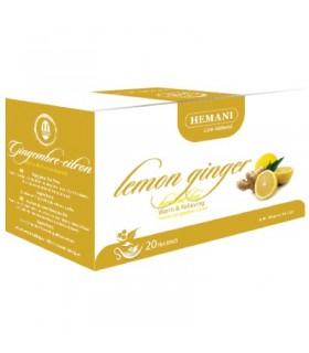 Chá quente de alívio Herbal - limão & gengibre - - 20 saquinhos de chá