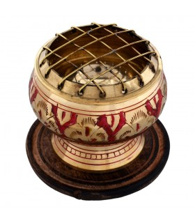 Bronze censer engraved - various colors - grids