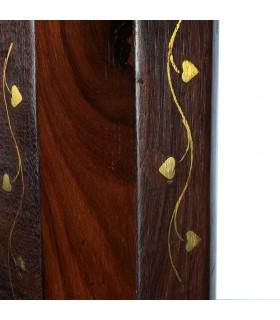 Incensiere ottagonale Torre - Base e Torre - legno - piuma floreale