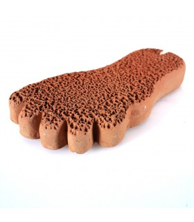 Pumice Natural - baked clay - dead skin calluses - form foot