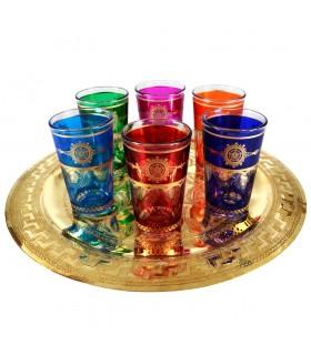 Juego 6 Vasos Arabes - Estrella Marruecos - Multicolor-NOVEDAD - Modelo 10