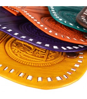 Кошелек рука - гравированные Oasis - 2 отделения - различные цвета