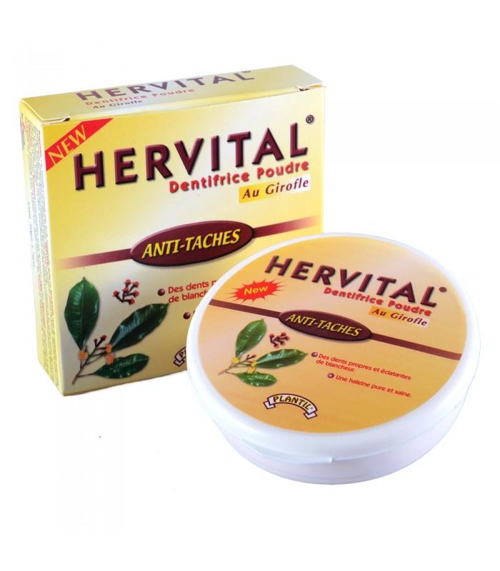 Dentrífico En Polvo Con Clavo - HERVITAL - Dientes Blancos Y Sanos - Novedad - 50 g