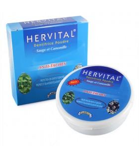 Pó de creme dental com camomila e sálvia - HERVITAL - brancos e saudáveis dentes - novidade - 50g