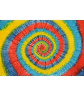 Tela Algodón  India - Espiral Arco Iris - NOVEDAD - 120 x 220 cm