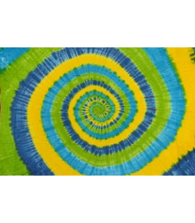 Fabric cotton India - spiral yellow - NOVELTY - 120 x 220 cm