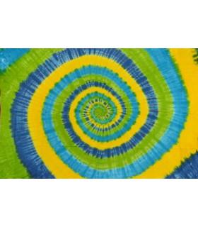 Tela Algodón India - Espiral Verde-Amarillo - NOVEDAD - 120 x 220 cm