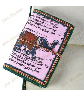 Livro do algodão Índia - papel artesanal - 100% - - 13 cm