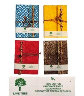 Livro verde - feito produto - 100% algodão - handmade da Índia