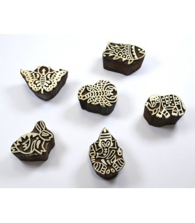 Selo de madeira artesanal - Hindus - sortidas ícones