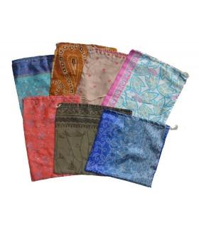 Sacs recyclés Sari - modèles et couleurs assorties - 32 cm