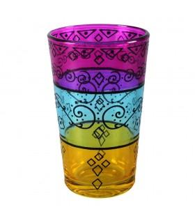Tasses à thé jeu 6 tirages - filigrane Floral henné - Tricolor