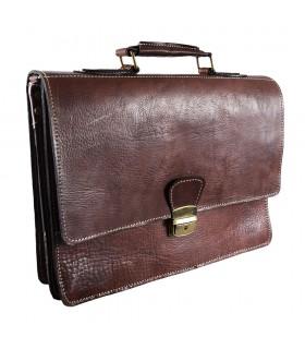 Couro de pasta Office - 3 compartimentos - dentro do bolso para celular - 38 cm