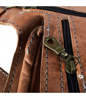 Fanny artigianato - 100% pelle - ottima qualità - 5 scomparti